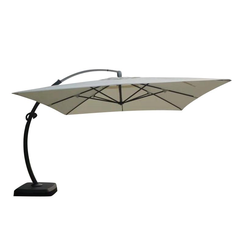 curved custom parasol