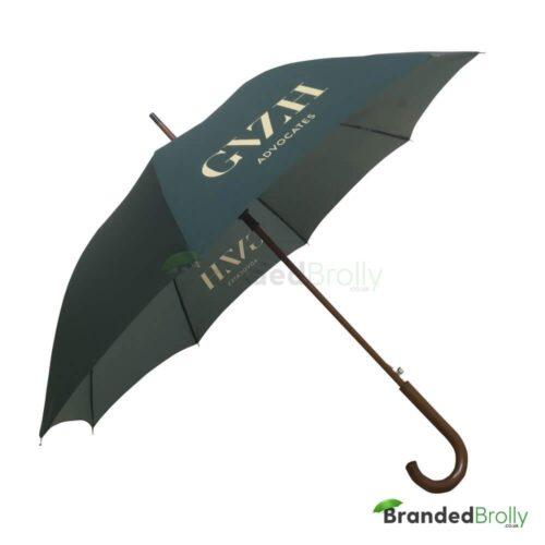 Green Dark Wood Walker Custom Umbrella