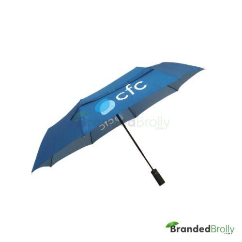 All Over Digital Print Branded Telescopic Umbrella