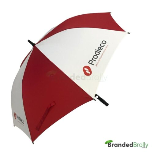 Red/White Branded Golf Umbrella