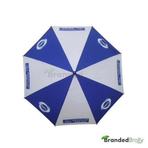 Blue And White Personalised Golf Umbrella