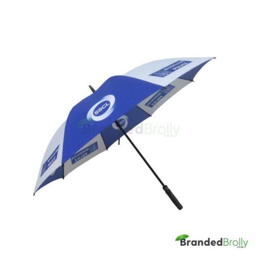 Blue And White Custom Golf Umbrella