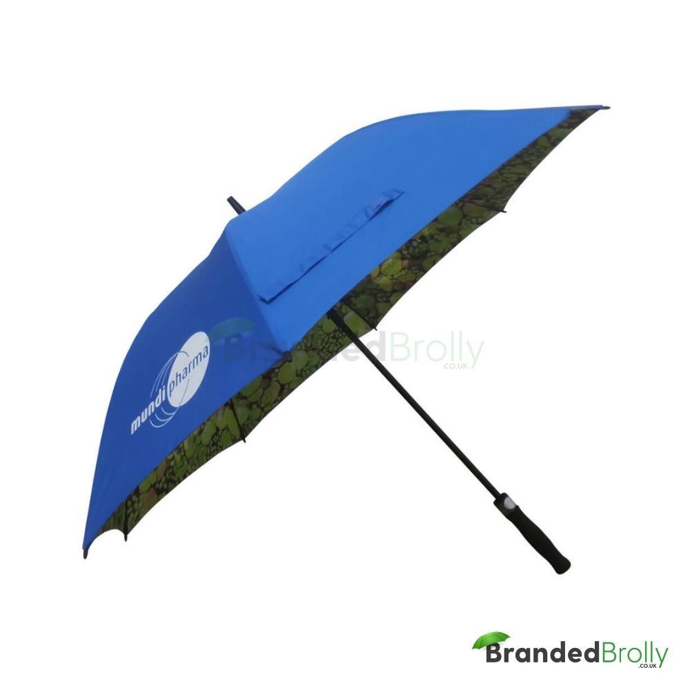 Dual Canopy Print Branded Golf Umbrella