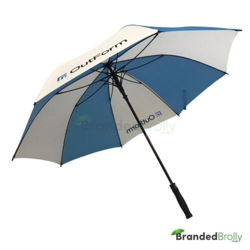 Blue/White Custom Golf Umbrella