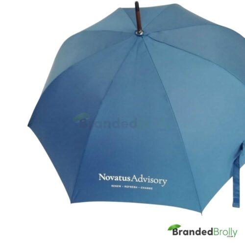 J Handle Wood Walking Branded Umbrella