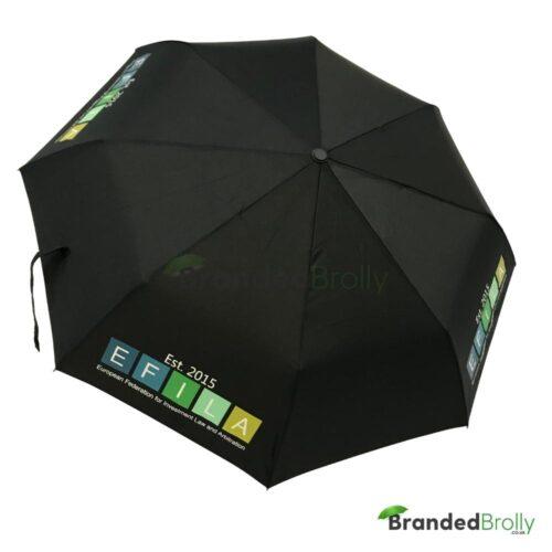 Black Custom Telescopic Umbrella