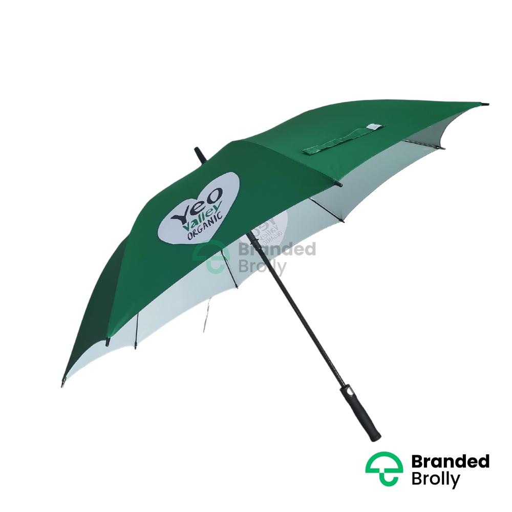 Yeo Valley Large Green Golf Umbrella