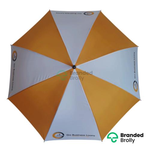 Orange White Large Golf Umbrella
