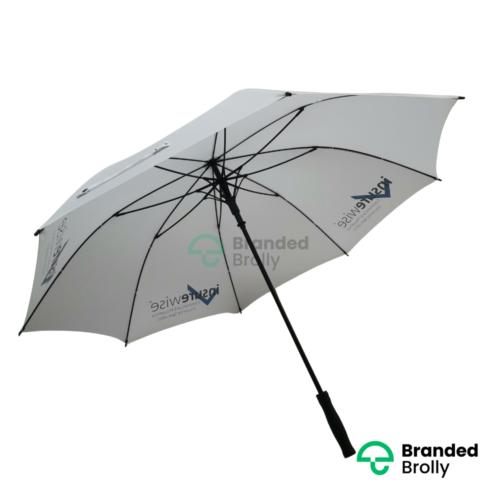 White Large Custom Golf Umbrella