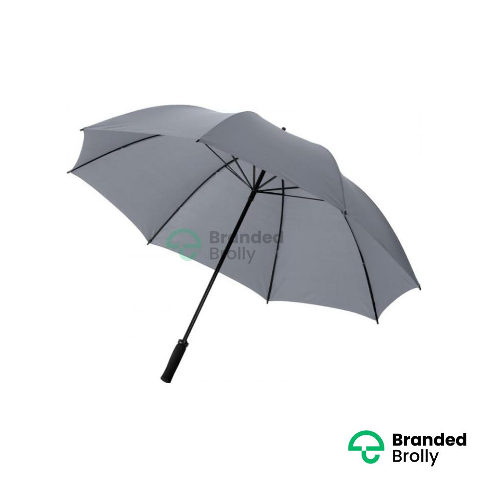 Value Range Grey Branded Golf Umbrella